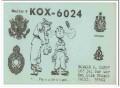 KOX-6024 Howard Happy San Luis Obispo CA 60s Vintage Postcard CB QSL 1