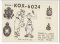 KOX-6024 Howard Happy San Luis Obispo CA 60s Vintage Postcard CB QSL 2