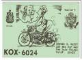 KOX-6024 Howard Happy San Luis Obispo CA 60s Vintage Postcard CB QSL 5