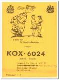KOX-6024 Howard Happy San Luis Obispo CA 60s Vintage Postcard CB QSL 8