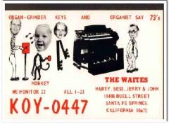 KOY-0447 Marty Waite Santa Fe CA 1960s Vintage Postcard CB QSL Card