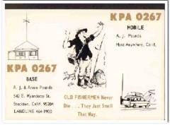 KPA-0267 Aj Pounds Stockton CA 1960s Vintage Postcard CB QSL Card