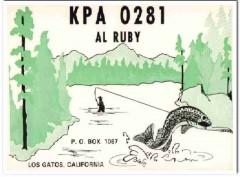KPA-0281 Al Ruby Los Gatos CA 1960s Vintage Postcard CB QSL Card