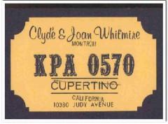 KPA-0570 Clyde Whitmire Cupertino CA 1960s Vintage Postcard CB QSL