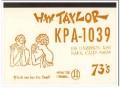 KPA-1039 Harold Taylor Napa CA 1960s Vintage Postcard CB QSL Card 2