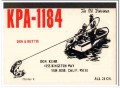 KPA-1184 Don Kehr San Jose CA 1960s Vintage Postcard CB QSL Card 1