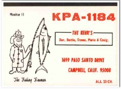 KPA-1184 Don Kehr Campbell CA 1960s Vintage Postcard CB QSL Card 2
