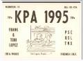 KPA-1995 Frank Lopez Firebaugh CA 1960s Vintage Postcard CB QSL 1