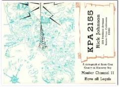 KPA-2155 Rick Johnson Santa Cruz CA 1960s Vintage Postcard CB QSL