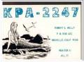 KPA-2247 Bob Holly Oroville CA 1960s Vintage Postcard CB QSL Card 2