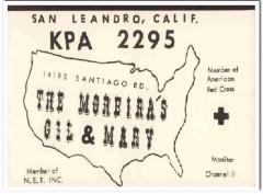 KPA-2295 Gil Moreira San Leandro CA 1960s Vintage Postcard CB QSL