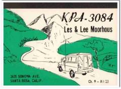 KPA-3084 Lee Moorhous Santa Rosa CA 1960s Vintage Postcard CB QSL
