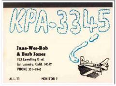 KPA-3345 Wes Jones San Leandro CA 1960s Vintage Postcard CB QSL