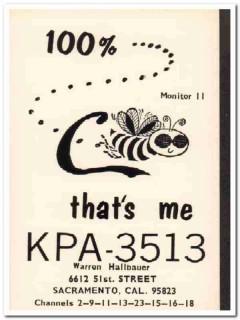KPA-3513 Warren Hallbauer Sacramento CA 1960s Vintage Postcard CB QSL