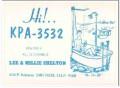 KPA-3532 Lee Shelton Caruthers CA 1960s Vintage Postcard CB QSL 1