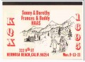KQX-1695 Sonny Haas Hermosa Beach CA 1960s Vintage Postcard CB QSL 1