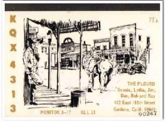 KQX-4313 Dennis Plourd Gardena CA 1960s Vintage Postcard CB QSL 1