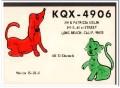 KQX-4906 Jim Sidlin Long Beach CA 1960s Vintage Postcard CB QSL 2