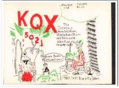 KQX-5021 Norm Jackson Ventura CA 1960s Vintage Postcard CB QSL Card