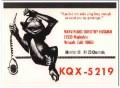 KQX-5219 Marvin Husman Norwalk CA 1960s Vintage Postcard CB QSL