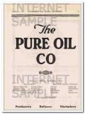 C L Maguire Petroleum Company 1921 Vintage Ad Oil Serving A Principle