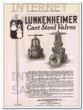 Lunkenheimer Company 1921 Vintage Ad Oil Pipeline Cast Steel Valves