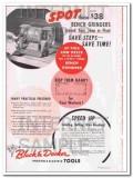 black and decker mfg company 1948 spot bench grinder tool vintage ad