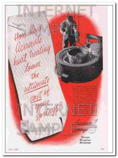 accurate spring mfg company 1948 metal heat treating vintage ad