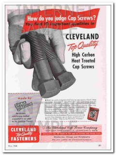 cleveland cap screw company 1948 high carbon heat treated vintage ad