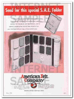 american felt company 1948 send for this special sae folder vintage ad