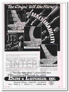 bliss and laughlin inc 1948 the chips tell the story steel vintage ad
