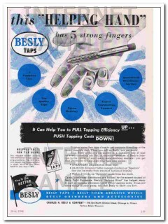 charles h. besly company 1948 this helping hand taps vintage ad