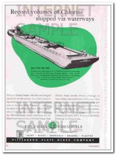 pittsburgh plate glass company 1948 columbia chlorine vintage ad