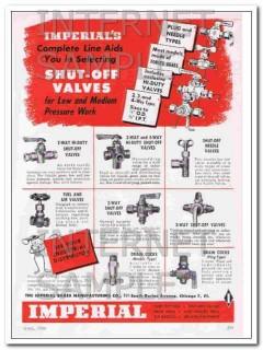 imperial brass mfg company 1948 shut-off valves plumbing vintage ad