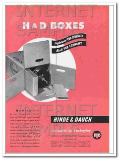 hinde and dauch 1948 boxes engineered for strength vintage ad