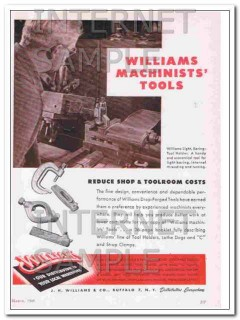 j h williams company 1948 reduce shop cost machinists tools vintage ad