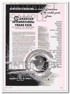canadian international trade fair 1948 businessmen invite vintage ad