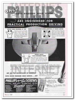 phillips screw manufacturers 1948 practical product driving vintage ad