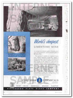 pittsburgh plate glass company 1948 columbia limestone vintage ad