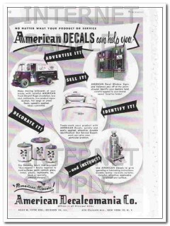 american decalcomania company 1948 no matter what product vintage ad