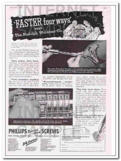 phillips screw manufacturers 1948 wurlitzer company jukebox vintage ad