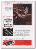 j h williams company 1948 streamlined strength superrenches vintage ad