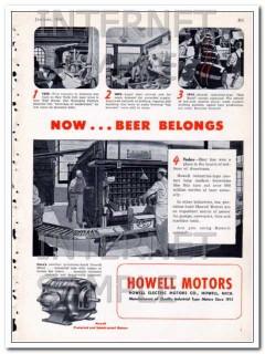 howell electric motors company 1948 now beer belongs vintage ad