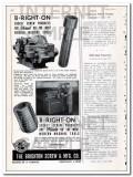 brighton screw mfg company 1948 b-right-on socket products vintage ad