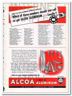 aluminum company of america 1948 alcoa distributor near you vintage ad