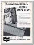lukens steel company 1948 flanged dished stock heads vintage ad