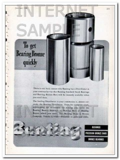 bunting brass bronze company 1948 to get bronze quickly vintage ad