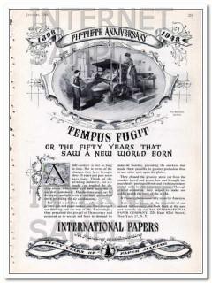 international paper company 1948 tempus fugit vintage ad