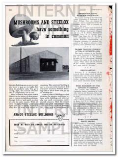 armco drainage metal products inc 1948 mushrooms steelox vintage ad