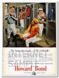 howard paper mills inc 1948 jockey track tip use color bond vintage ad